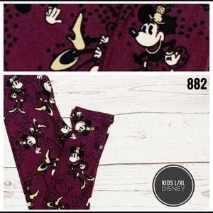 Disney L/XL vintage Minnie print leggings